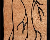 Weeping Birch wood block carving-small
