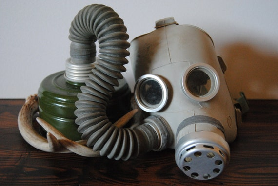 WWII USSR Child's Gas Mask - Military Home Decor Collectable