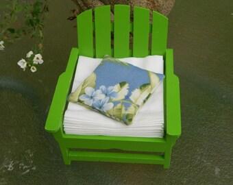 Adirondack chair napkin holder