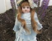 Old Antique Bisque Head German Kestner 154 Cabinet Sized Victorian Doll