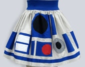 r2d2 inspired full skirt RESERVED FOR SUSAN