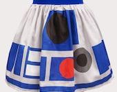 Printed R2 Inspired Sateen Skirt