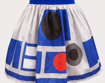Printed R2 Inspired Sateen Skirt