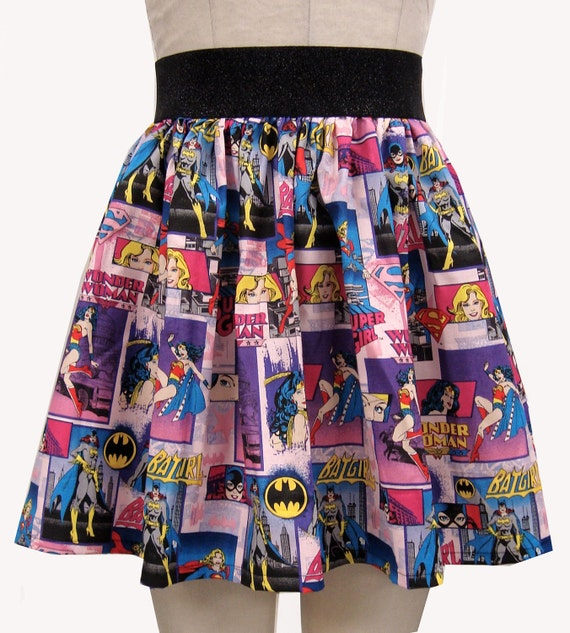 Female Superheroes Comic Skirt