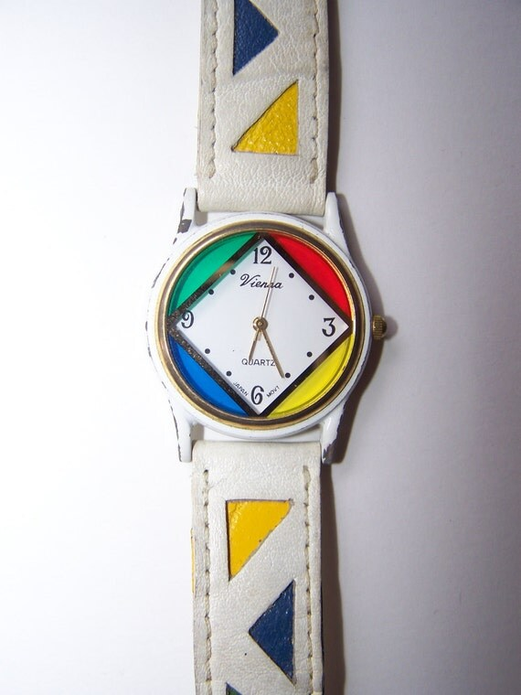 Rainbow Retro 80s 90s Colorful Watch