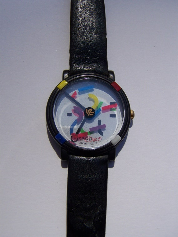 Great Vintage 80s 90s Color Blocked John Zaboyan Watch