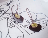 summer berries- pale yellow enamel earrings