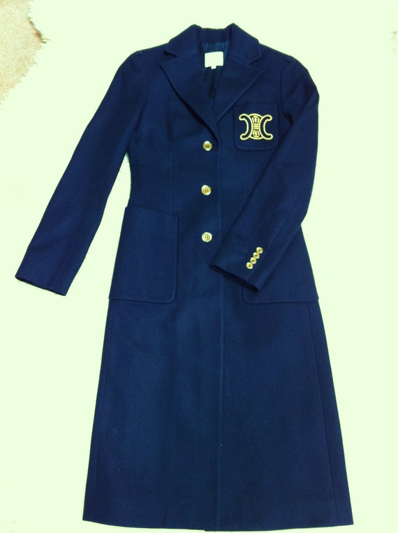 Authentic Vintage Celine Laine and Cashmere Dress Coat