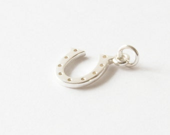Sterling Silver  Lucky Horseshoe Charm, Horseshoe Charm, Silver Horseshoe Charm, Good Luck Charm