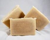 Three 3.5oz Bars of Goats Milk, Honey, and Sugar Cold Process Soap - All Natural