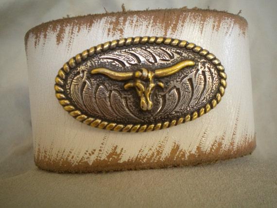 Longhorn Steer Vintage Western Belt Bracelet