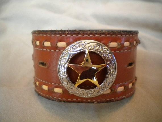 Texas Star Vintage Western Belt Bracelet