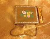 ON SALE Vintage Compact 1950s Ritz 3 in 1 Purse Style with Cigarette Box & Lipstick