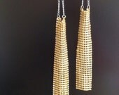 GLAMOROUS -Mesh Inspired Gold Dangling Earrings