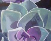 "Original Floral/Plant Painting - 12"" x 24"" - View Two Succulents"