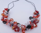 Black and red beaded necklace