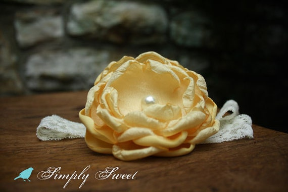 Sweet Buttercup Flower Headband