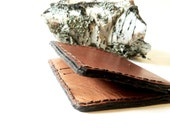 Christmas in July- Mens Leather Wallet Tan, Handmade in America, Simple Wallet for Men, - CicadaLeatherCompany