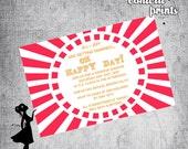 Bridal Shower Invitation - HAPPY DAY Printable