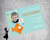 Photo Birthday Invitation - BUBBLE BREATH