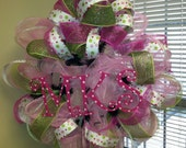 Baby Girl Initial Wreath