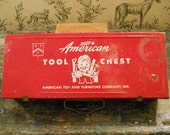 Red Metal American Tool Chest - American Toy and Furniture Company, Inc.