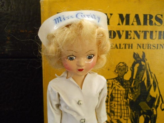 1950s Miss Curity Nurse Doll and Penny Marsh Finds Adventure in Public Health Nursing Book