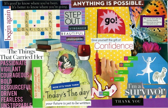 Items similar to Go - Inspirational Collage on Etsy