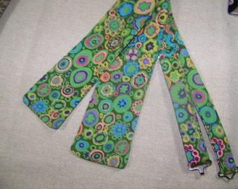 Mens Bowtie - Men's Freestyle Bow Tie - Men's Bow Tie - Multi Colored Cotton Men's Bow Tie -  Adjustable - Free Style - PreTied - Clip on
