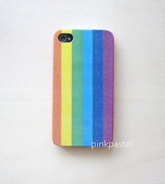iphone 4/4S case - rainbow color