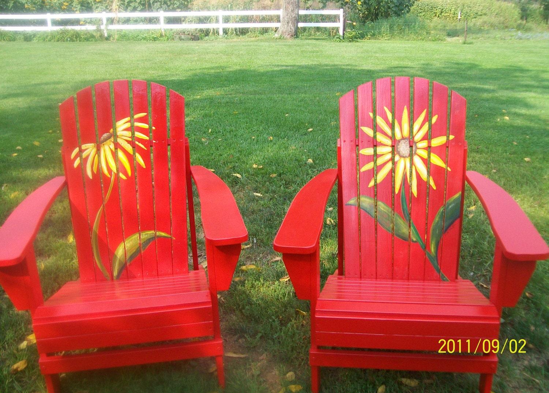 Adirondack chair painting - How To Paint Adirondack Chairs