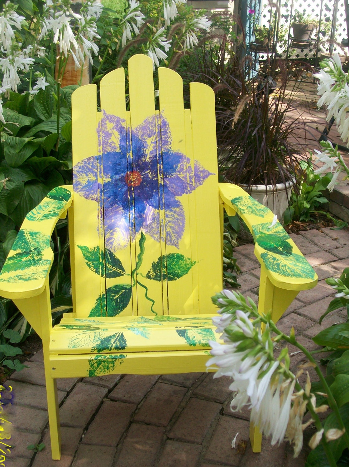 Superb img of Hand Painted Adirondack Chairs Bright Yellow by artinthegarden with #A49C27 color and 1120x1500 pixels