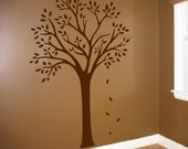 Custom Order for Katie Borth -Kids Removable Wall Decals - Tall tree with Two Birds and a Deer Childrens Nursery Sticker