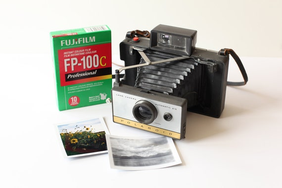 Refurbished Polaroid Land Camera - Working - With Film - Model 215