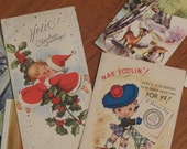 Bulk vintage greeting/christmas cards. 13 pieces. Great for craft, scrapbooking or gifts
