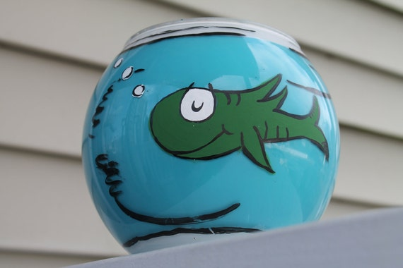 Dr Seuss Pottery Barn Kids Inspired Fish Bowl By Artcutie