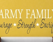 Military Family Vinyl Wall Decal - Military Decor - Vinyl Wall Art