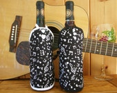 Music Notes - Wine Bottle Aprons: Set of 2