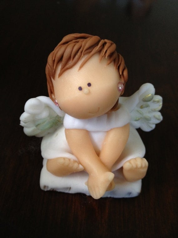 Ceramic Angel Christening Baptism Favors First Communion