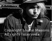 Portrait of Jeffrey Lee pierce - The Gun Club- Paris 1984  by Louise Maisons all rights reserved
