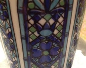 5 Cup Coffee Cup Set- Stained Glass Design