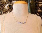 Stone Star Necklace - MONTEREY - light blue