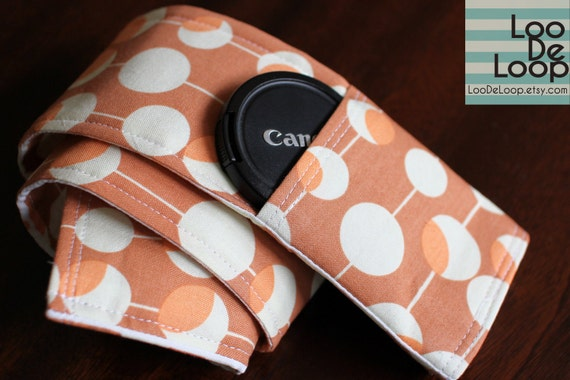 DSLR Camera Strap Cover w/ Lens Cap Pocket