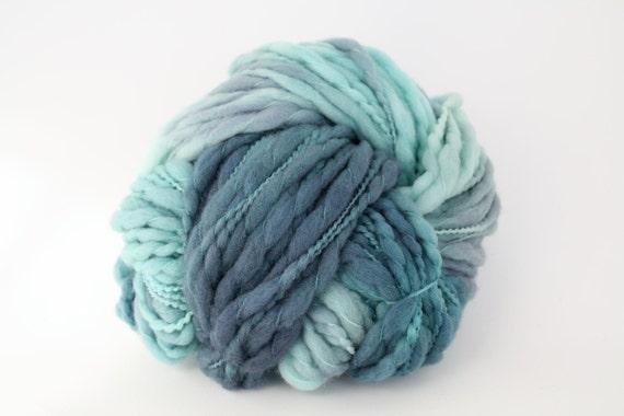 Hand Dyed Thick-n-Thin Merino Wool Yarn - Key West