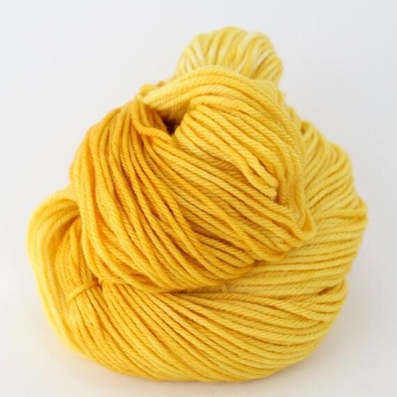Supernova - Hand Dyed Superwash Merino Wool Worsted Yarn - Lemon Drop