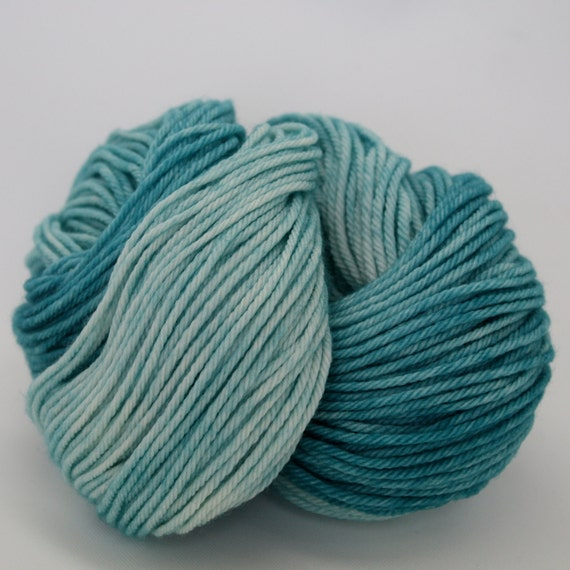 Supernova - Hand Dyed Superwash Merino Wool Worsted Yarn - Colorway: Surf