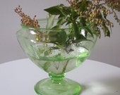 Green Depression Glass Container