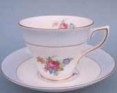 Vintage Rosina Teacup And Saucer Fine Bone China Made In England