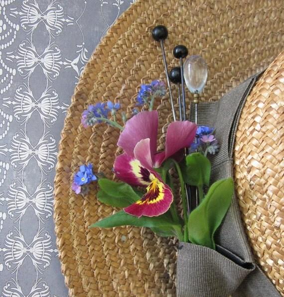 Four Antique Victorian Hatpins