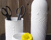 Instant Collection - Upcycled Containers - White Faux Porcelain Pottery
